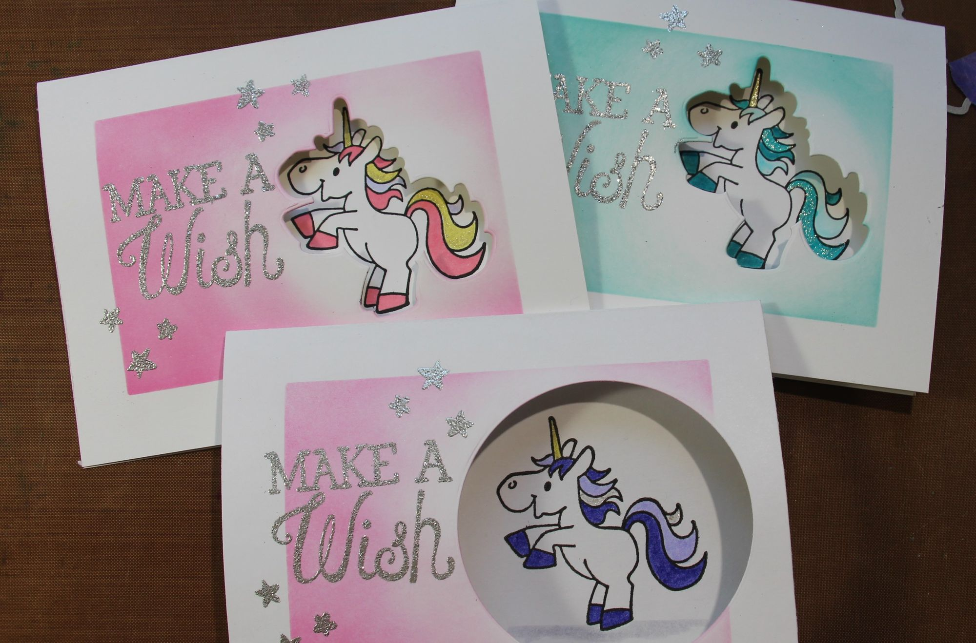 Unicorn Window Card