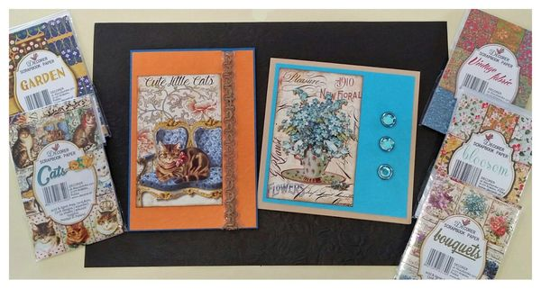 One Crafty Cardmaker! Quick Cards with Decorer Papers