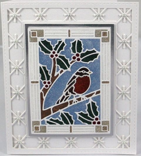 Micro Fine Glitter with Creative Expressions Stained Glass Robin