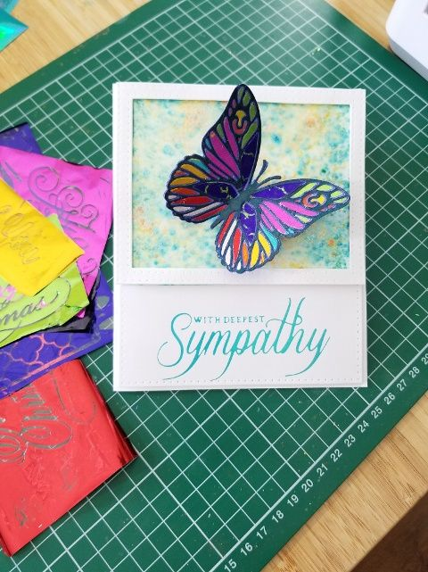 "Go Press & Foil ""Scrap Foil"" Butterfly Card"