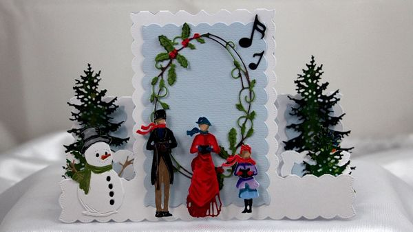 New Tattered Lace Christmas Stepper Card