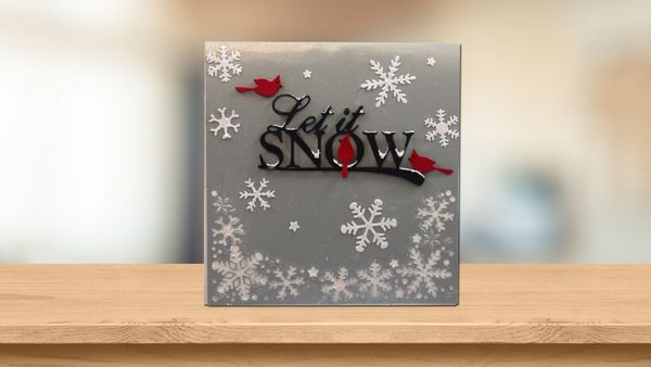 Let it Snow Pop-Up Card
