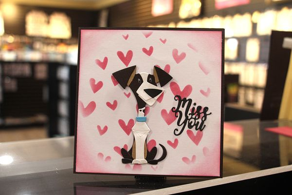 """Miss You"" Dog Card"