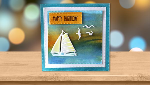 Abstract Sunset Birthday Card