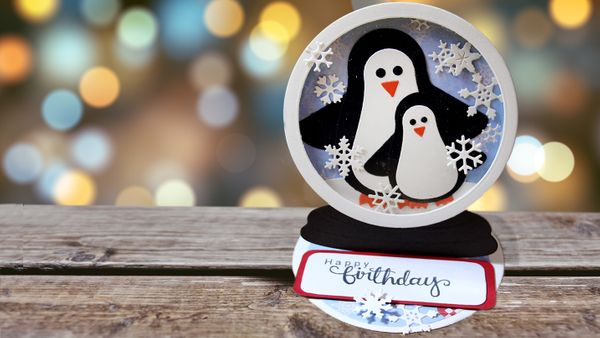Penguin Easel Card