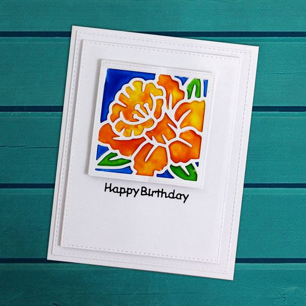 Crystal Tints Flower Card