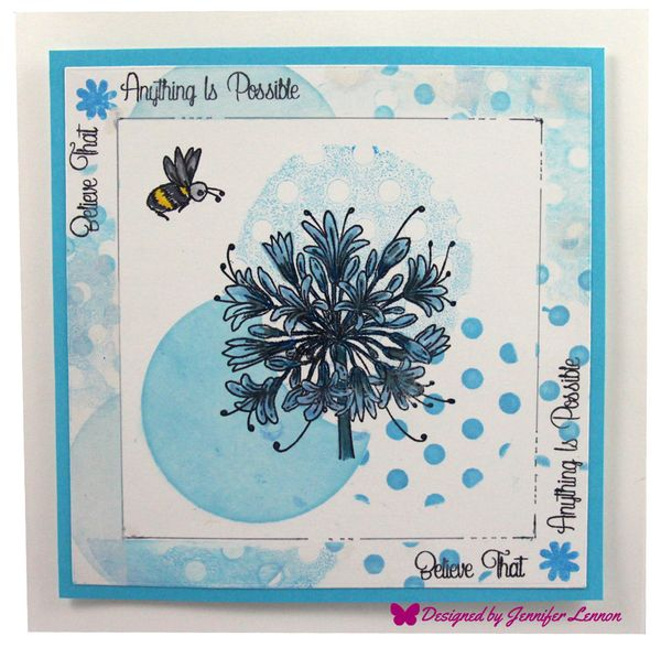 Agapanthus Stamp Card Follow Up