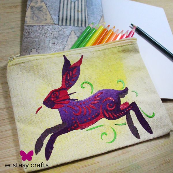 Colourful Hare DIY Pencil Case