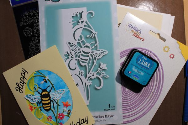 Virtual Open House - Bumble Bee Edger Card