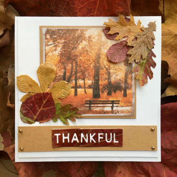 Autumn Leaves Cardmaking